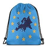 XCNGG Sac à Cordon Sac à Cordon Sac Portable Sac de Sport Sac à provisions Europe Drawstring Backpack Rucksack Shoulder Bags Gym Bag