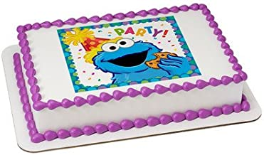 Sesame Street Cookie Monster Licensed Edible Cake Topper #7566