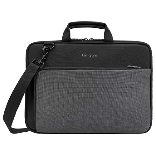Targus Work-in Plus Case with Slim Profile, Soft Touch Interior, Large Front Pocket Pouch, Protective Sleeve fits 13-14-Inch Laptop Chromebook, Black (TED015GL)