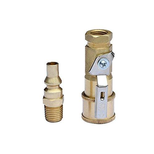 Adaptador de gas propano de liberación rápida de 0,63 cm para manguera de propano certificado CSA