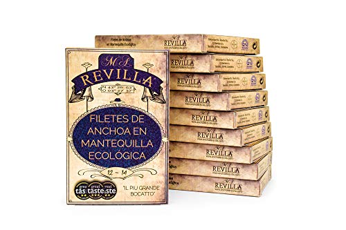 Anchoas con MANTEQUILLA Revilla - Pack 10 hansas 120g. Anchoas de Santoña con mantequilla
