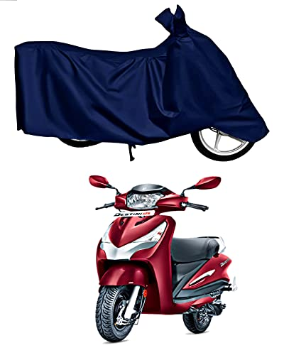 KEDIT ™ - New Hero Destini 125 Waterproof - UV Protection & Dust Proof Full Bike - Scooty Two Wheeler Body Cover for Hero Destini 125 (Navy Blue)