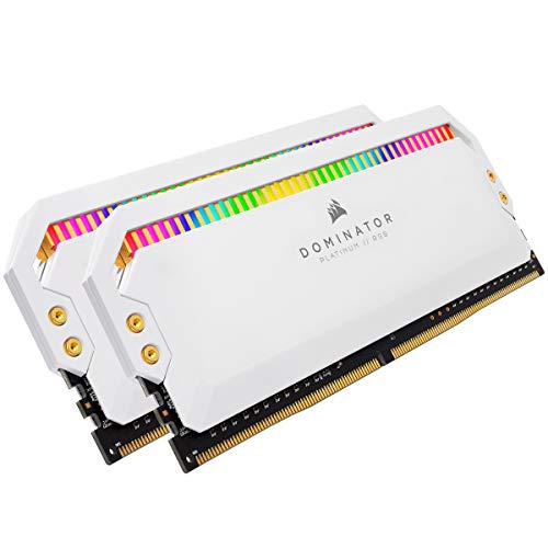Corsair Dominator Platinum RGB Memoria per Desktop a Elevate Prestazioni Nelle Frequenze, 12 LED RGB CAPPELLIX Regolabili, DDR4, C18, 16 GB, 2 x 8 GB, 3600 MHz, Bianco