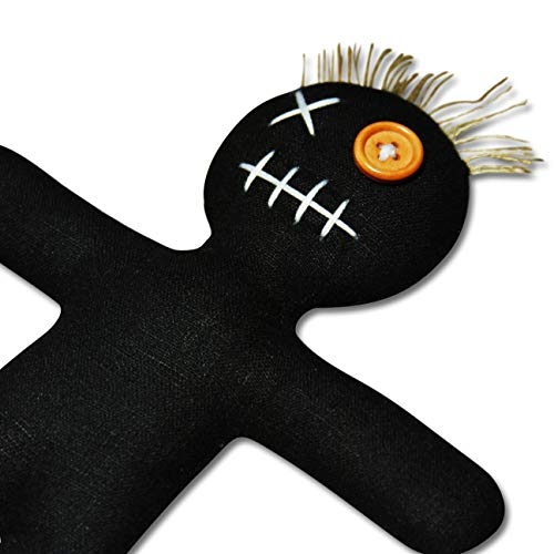 Mojo Doll black - Voodoo Puppe mit Nadel und Ritual-Anleitung