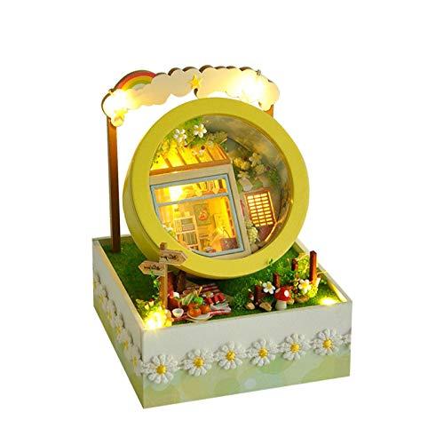 Ranana DIY Gartenhaus Bastelsets Kreatives Gebäude im Maßstab 1:24, ausgestattet mit Möbeln und Accessoires, Lernspielzeug für Mädchen Für Geburtstags