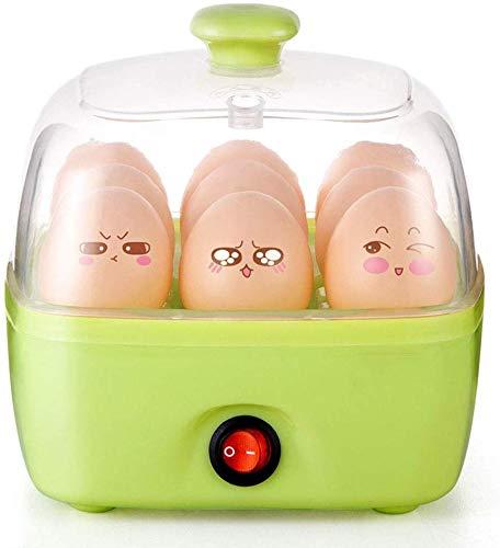 Mini-Haushalt Eierkocher, Multi-Funktions-Single-Layer-Edelstahl Eierkocher Power Off Schutz schnelles Aufheizen nach Hause Frühstücksmaschine,Grün