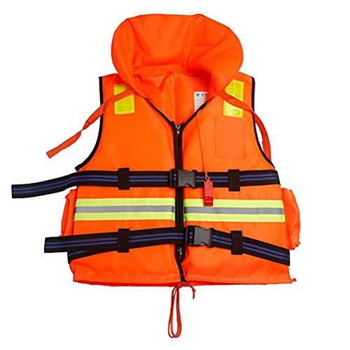 Lseqow Chaleco Salvavidas sólido, Chaleco Salvavidas con Silbato de Emergencia, Chaleco Salvavidas de Pesca Deportiva a la Deriva, Chaleco Salvavidas para niños y Adultos