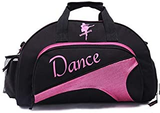 Womens Girl Nylon Dance Sport Duffel Gym Bag Ballet Dance Sports Gym Duffel Bag Travel Carry Bag