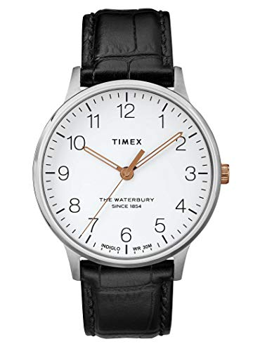 Timex Orologio Analogico Quarzo Uomo con Cinturino in Pelle TW2R71300