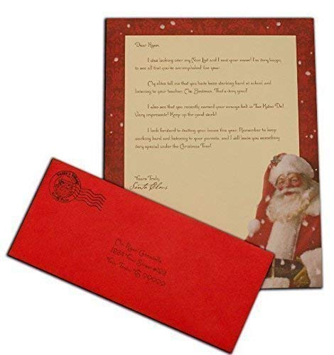Personalized letter from santa claus
