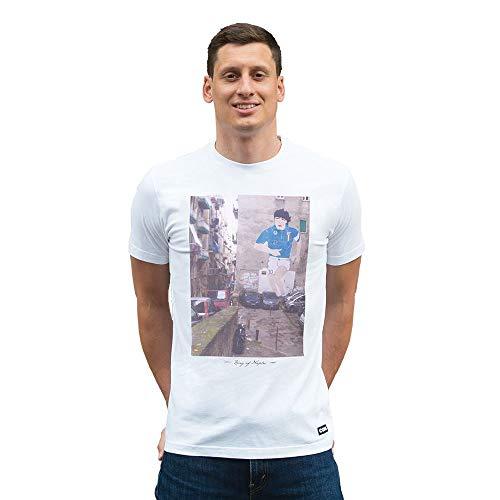 Copa Herren T-Shirt King of Naples Rundhalsausschnitt L weiß