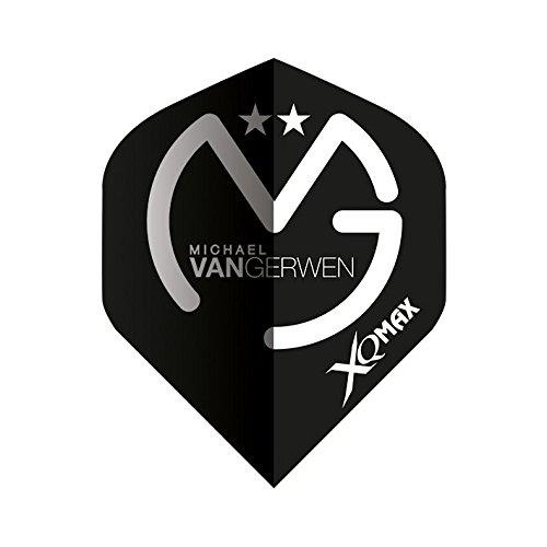 XQMAX Dart Flights Michael van Gerwen, schwarz/grau, 100 Micron, 1 Satz