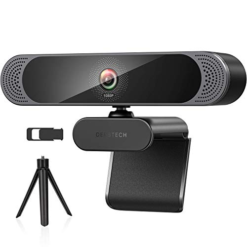 Webcam with Microphone, 2020 DEPSTECH 1080P HD Webcam USB Computer Web Camera with Privacy Cover and Tripod, Plug and Play, Streaming Webcam for Desktop PC Video Conferencing, Teaching and Gaming