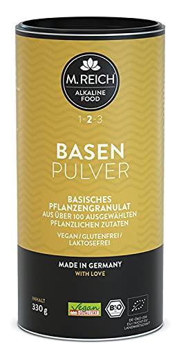 M. Reich - 330 g - BasenPulver mit ausgewählten pflanzlichen Zutaten - Vegan und Bio-Qualität - Basisches Pflanzengranulat