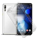 ZXLZKQ [3 Piezas Protector de Pantalla Cristal Templado para HTC Desire 19 Plus (6.20 Pulgadas), Anti Dactilares Resistente Vidrio Templado, Cristal Vidrio Templado Protector 9H Dureza