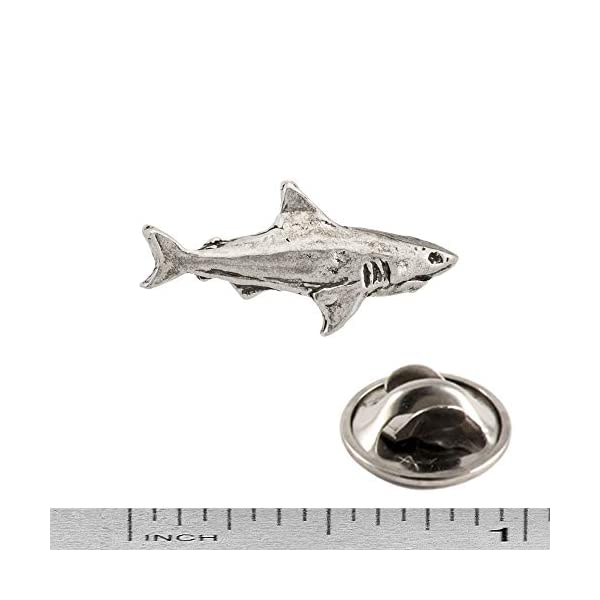 Creative Pewter Designs Shark Lapel Pin - Pewter - Highly Detailed Artisan Brooch - Made in USA 4