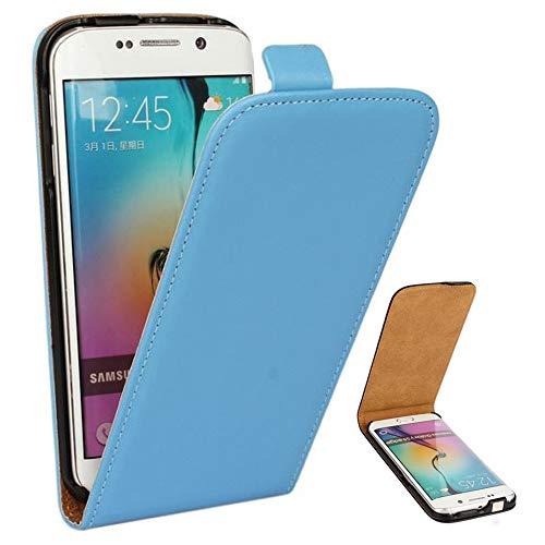Roar Handy Hülle für Samsung Galaxy Alpha Handyhülle Hellblau, Flipcase Schutzhülle Tasche für Samsung Galaxy Alpha, PU Lederhülle mit Magnetverschluß