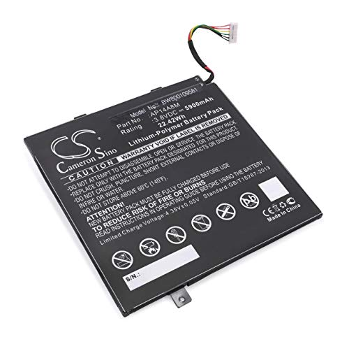 vhbw Li-Polymer Batterie 5900mAh (3.8V) pour Tab Pad Tablette Acer Iconia Tab 10 A3-A20 comme AP14A8M, KT.0020G.004.