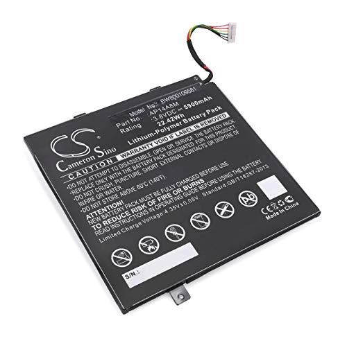 vhbw Li-Polymer Batterie 5900mAh (3.8V) pour Tab Pad Tablette Acer A3-A20FHD, NTL4TET016, SW5-011, SW5-012, SW5-012P comme AP14A8M, KT.0020G.004.