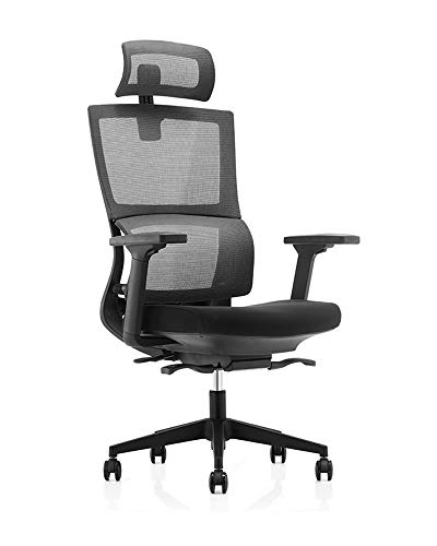 MESHCOOL Chair with Ergonomic Adjustable, Computer Desk Executive Office Chair for Lumbar Support and Thick Seat Cushion, Most Comfortable Office Chair Adjustable Tilt Angle and Flip-up Arms