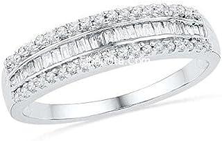 خاتم مطلى ذهب ابيض مزين بفص من الكريستال الماسى