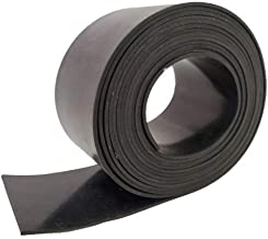 """Rubber Sheet Warehouse .125"""" (1/8"""") Thick x 4"""" Wide x 10' Feet -Neoprene Rubber Strip Commercial Grade 65A, Smooth Finish, Solid Rubber, Perfect for Weather Stripping, Gasket, Costume & DIY Projects"""