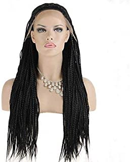 Women's Synthetic Lace Front Wig Kinky Curly Braided Wig African Braids Costume Wig