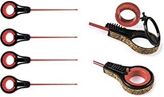 Mormysh Ice Winter Fishing Sport Rods Balalaika Pack of 4 Fishing Reel