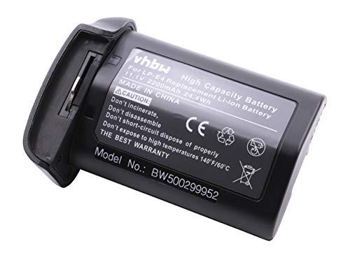 vhbw Li-Ion Akku 2200mAh (11.1V) für Kamera Canon EOS Serie, 1D Mark III, 1Ds Mark III, 1D Mark IV, 1D X wie LP-E4.