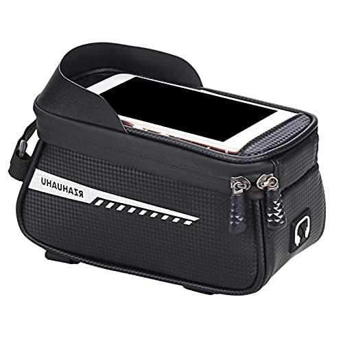 Bolso del tubo del coche del teléfono móvil de la bicicleta, bolso impermeable del teléfono móvil de la bicicleta con la pantalla táctil de menos de 6.5 pulgadas para el bolso del tubo superior