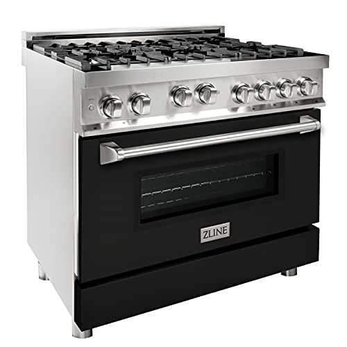 """ZLINE 36"""" 4.6 cu. ft. Range with Gas Stove and Gas Oven with Color Options (RG36) (Black Matte)"""