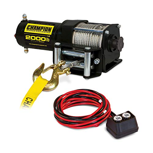 Champion Power Equipment 12003 2000 LB. ATV/UTV Winch Kit (12V DC)
