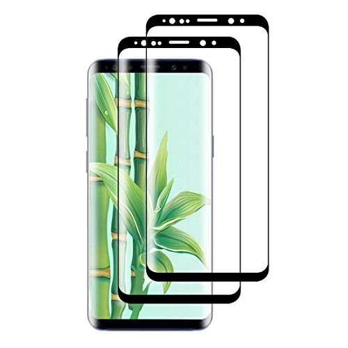 XSWO Cristal Templado Samsung S9 Plus [2 Unidades], Protector Pantalla Samsung Galaxy S9 Plus, [3D Cobertura Completa] [Alta-Sensibilidad] [Anti Arañazos][Sin Burbujas][Fácil Instalar] Vidrio Templado