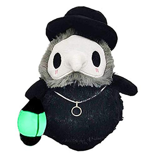 N / A Juguetes para médicos de Halloween con pico de peste y creativos, luminoso, pequeño peluche esponjoso, juguete regalo para niños, niñas, niños, amigos.