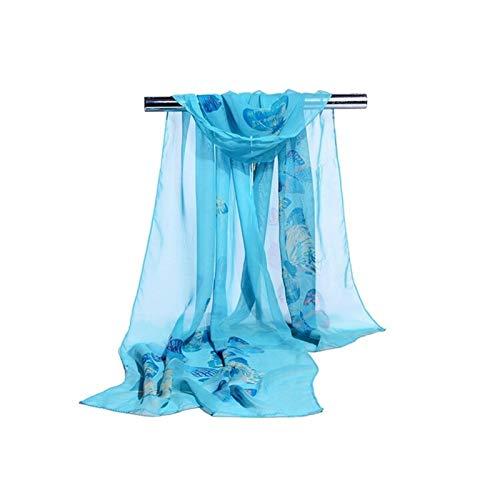 Bufanda de seda de las señoras Bufandas y chales - Damas Bufanda de gasa China estilo chino bufanda de seda protector solar mariposa gran mariposa / invierno largo seda bufanda playa toalla anti-sai s