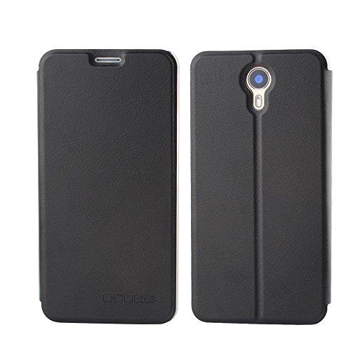 Tasche für Ulefone Power II Hülle, Ycloud PU Ledertasche Metal Smartphone Flip Cover Hülle Handyhülle mit Stand Function Schwarz
