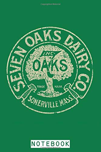Seven Oaks Dairy Co. 1918 Notebook: Lined College Ruled Paper, Planner, Diary, 6x9 120 Pages, Journal, Matte Finish Cover