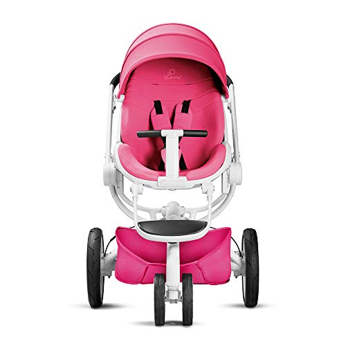 Quinny Moodd Kinderwagen, mit automatischer Aufklappfunktion, Ruheposition in beide Fahrtrichtungen, modernes Design, ab der Geburt bis ca. 3,5 Jahre, pink passion