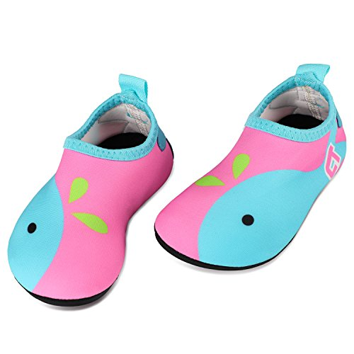 Tagvo Baby Mädchen Wasser Schuhe, schnell trocknende barfuß Haut Aqua Socken Schwimmen Schuhe für Strand Pool (Hersteller Grosse - 23/24) 18-24 Monate (Sohlenlänge 5,6