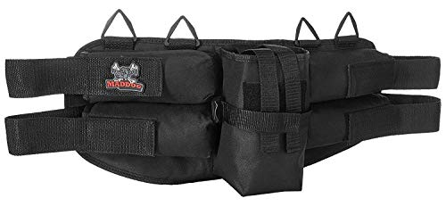 Maddog Entry Level Paintball Harness Pod Pack Belt with HPA CO2 Tank Holder Pouch - 4+1
