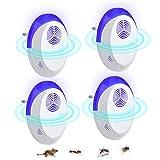 Fenvella Repellente Ultrasuoni, Versione Aggiornata di Antizanzare Ultrasuoni, Efficace Contro Topi,Ratti,Mosche,Zanzare,Ragni,Scarafaggi, Sicuro e Non Tossico(4 Pack)