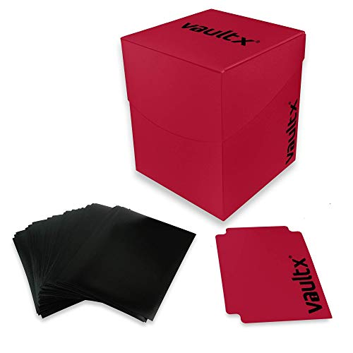 Vault X Deck Box and 150 Black Card Sleeves -...