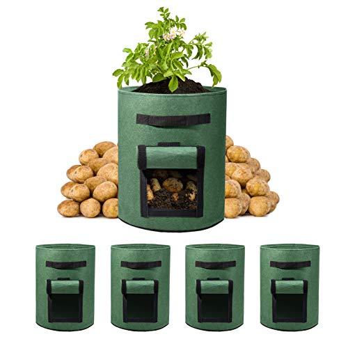 HOUSE DAG Växtväskor, andningsbara krukor Planter med handtag (7 gallon-10 gallon