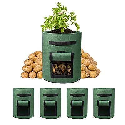Amazon - 50% Off on 5 Pack 10 Gallon Potato Grow Bags Visualization Velcro Window Vegetable Grow Bags