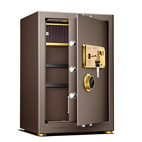 Safe Box Extra Grote Elektronische Staal Veilig Met Keypad En Vingerafdruk Ontgrendelen Voor Home Office Hotel Sieraden Cash Opslag Drop Box Voor Thuis en Kantoorbeveiliging