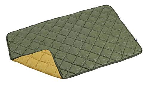 キャプテンスタッグ(CAPTAINSTAG)ダウンひざ掛けブランケット防寒CSファイバーダウンブランケット丸洗い可能収納バッグ付き120×75cmモスグリーン×キャメルUM-1555