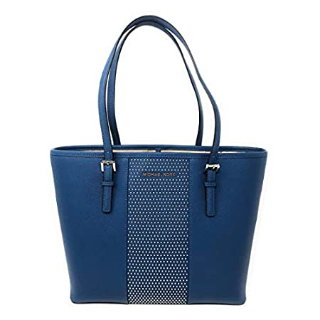 Fashion Shopping Michael Kors Women's Jet Set Travel Micro Stud Leather Carry All Tote Handbag