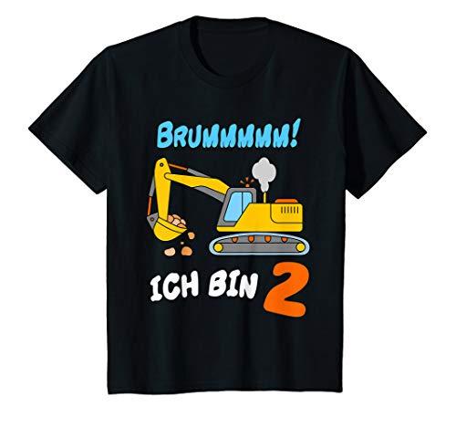 Kinder T Shirt Bagger 2 Jahre Geburtstagsshirt Kleinkind Junge T-Shirt