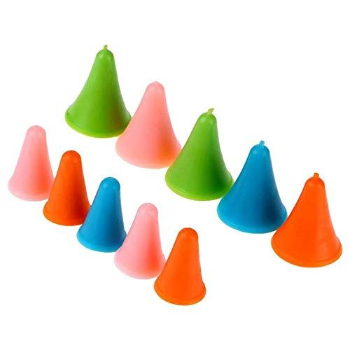 Hpybest 10 Stück Gummikegel Form Stricknadeln Kappe Spitzen Protektoren in 2 Größen zum Stricken Basteln Nähen Zubehör