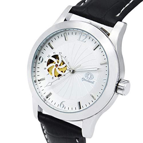 Reloj mecánico automático de 3 Manos para Hombre con regulador de Longitud Reloj automático mecánico-D